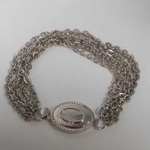 Vintage Avon Silver-tone Multi-Chain Bracelet Oval Clip-In Clasp  - $19.31