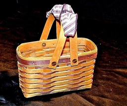 Longaberger Handwoven Basket with Double Swing Handles Vintage 1998 AA18... - $49.95
