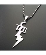 TCB NECKLACE Stainless Steel Pendant Charm Taking Care of Business Elvis Motto - $7.95