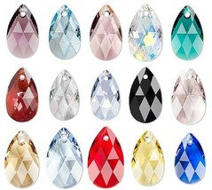 Swarovski Pear crystal pendant style 6106 Faceted Pear Choose 16mm 22mm  - $3.81+