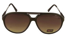 NEW Quay Eyeware Australia 1489 Matte Black Chocolate Brown 100% UV Sunglasses