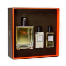 Hermes Terre D'Hermes EDT Spray 3.3 oz + Aftershave 1.35 oz + Shower Gel 2.7 oz  image 1
