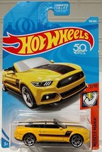 HOT WHEELS 2018 MUSCLE MANIA #2/10  2015 FORD MUSTANG GT CONVERTIBLE  (Y... - $4.95