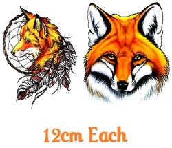 Fox C2  Temporary Tattoos  - $11.00