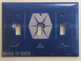 Star Wars Imperial Tie Fighter Light Switch Outlet wall Cover Plate Home Decor image 4