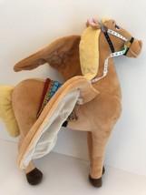 "Disney Store Sofia the First Saffron Plush Flying Horse 16"" Tan Pegasus - $16.05"