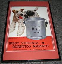 1949 WVU West Virginia vs Quantico Marines Football Framed 10x14 Poster ... - $32.36
