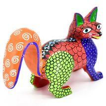 Handmade Alebrijes Oaxacan Copal Wood Carving Painted Folk Art Fox Figurine image 5