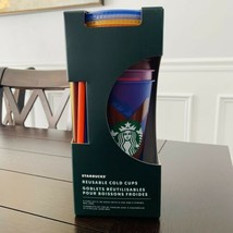 Starbucks Summer 2021 abstract design Reusable Cold Cups  - $44.55