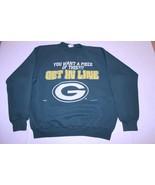 Men's Green Bay Packers L Vintage 1994 Crew Sweatshirt (Green) Nutmeg Mills - $18.49