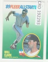 1989 89 Fleer All Star Team #3 Will Clark San Francisco Giants   192293 - $1.86