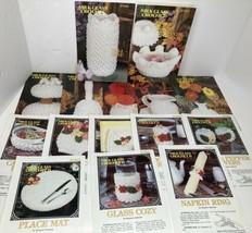 Lot of 15 Milk Glass Crochet Patterns Annie's Attic Pattern Club Leaflets Vtg - $29.69