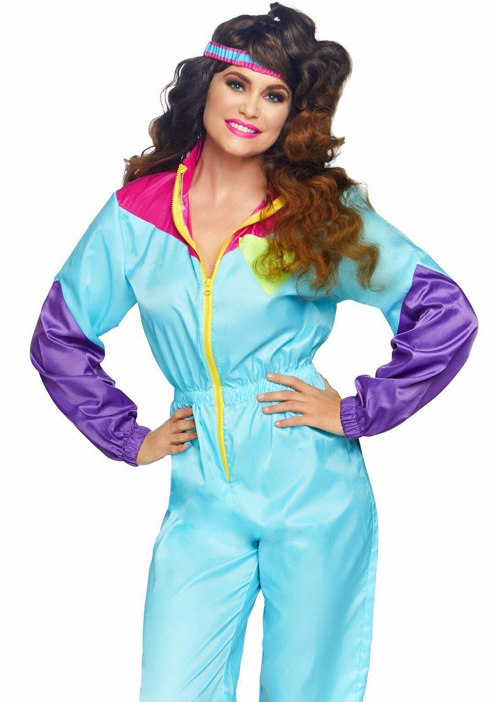 Leg Avenue Sorprendente 80s Chándal Retro Adulto Mujer Disfraz Halloween 86813