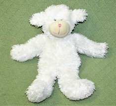 "13"" Baby Boyds Plush LAMB RATTLE White Stuffed Animal 2000 Soft Cuddly Lovey Toy - $14.03"