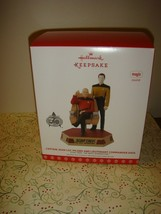 Hallmark 2017 Captain Jean-Luc Picard & Lieutenant Commander Data Ornament - $33.99