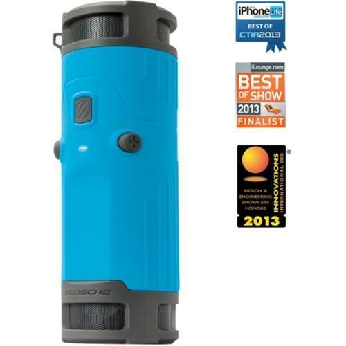 NEW SCOSCHE BTBTLBL boomBOTTLE Weatherproof Wireless Portable Speaker Blue/Black