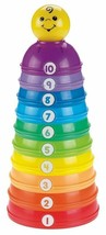 Baby Stackable Cups Nesting Tower Learning Color Size Numbers Toddler Toy NEW - $27.45