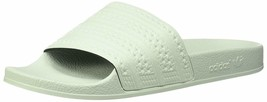 ADIDAS ORIGINALS MEN'S ADILETTE SLIDE SANDAL LINEN GREEN - $53.80 CAD