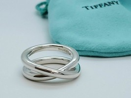Size 7.5 Tiffany & Co Silver Mens Unisex Paloma Picasso Le Circle Crosso... - $179.00