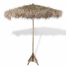 "vidaXL Parasol Bamboo 106.3"" w/ Banana Leaf Roof Garden Umbrella Shelter... - £121.59 GBP"
