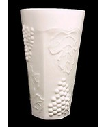 "Indiana Glass Harvest Grape White 6"" Iced Tea Tumbler Drinking Milk Colony - $2.95"