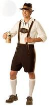 Incharacter Costumes Mens Bavarian Guy Costume Brown/Tan Large New Ships Free - $80.56