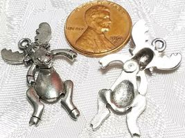 WIGGLY MOOSE FINE PEWTER PENDANT - 16mm L x 30mm W x 6mm D image 3