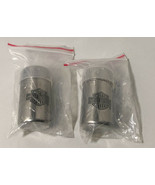 harley davidson salt and pepper shakers stainless steel - $13.21