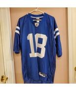 NFL Peyton Manning #18 Indianapolis Colts Reebok Jersey Size Men's Large... - $40.00