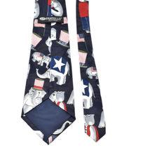 Fratello G.O.P. Republican Elephants Flags Silk Tie Necktie image 3