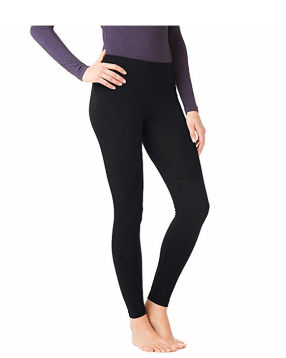 32 Degrees HEAT Meduim Weight Women's Base Layer Pant, Black, Size L
