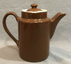 Hall Teapot Single Serve Lot Of Brown Small Tea For One Vintage Made In USA - $9.89