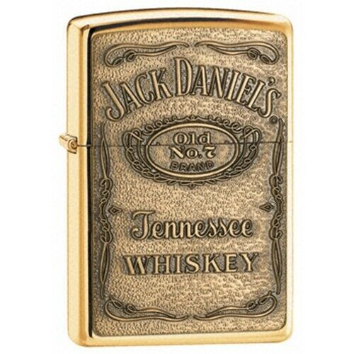 Primary image for Zippo Jack Daniels Label-Brass Emblem  Windproof Lifetime Guarantee Made USA