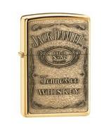 Zippo Jack Daniels Label-Brass Emblem  Windproof Lifetime Guarantee Made... - $46.43
