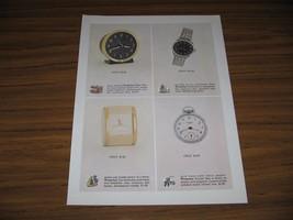 1963 Print Ad Westclox Baby Ben Clocks,Pocket Ben Watch,Wristwatch,Trava... - $12.55