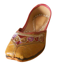 Women Shoes Indian Handmade Mojari Casual Leather Flip-Flops Jutti US 8.5  - £19.27 GBP