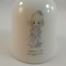Enesco Precious Moments Bell I Believe In The Old Rugged Cross No Box - $9.89