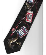 Bud Light Beer Fishing Necktie I Love You Man 1996 ad campaign pole can ... - $21.77