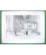 ITALY Cathedral of Verona San Micheli Interior Cancellum - SCARCE Antiqu... - $23.56