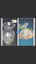 "Decorative Glass Vase 8"" with bag Of Citrus Potpourri - $44.99"