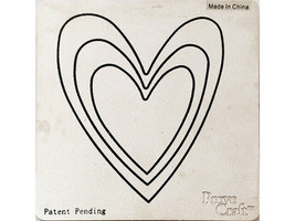 Cricut Cuttlebug Heart Die