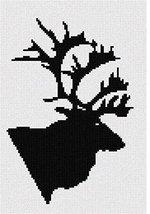 pepita Caribou Silhouette Needlepoint Canvas - $50.00