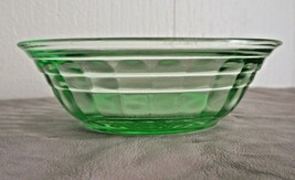 Block Optic Green Champagne Berry Bowl  Anchor Hocking - $9.25