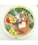 Bradford Exchange Winnie Pooh Kanga Roo Silly Old Bear 3D Plate Mint w B... - $32.91