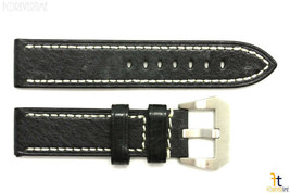 26mm Black Textured Leather Watch Band Strap Fits Luminox Anti-Allergic - $34.15