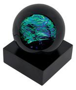 Speed of Light UV Light Celestial Paperweight Glass Eye Studio Art NIB 4... - $141.95