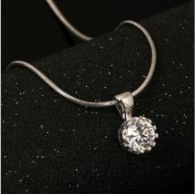 Double Fair Brand Unique Crown Cubic Zirconia Necklaces & Pendants Fashi... - $9.49