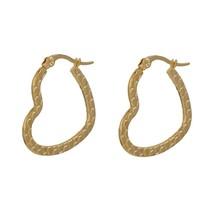 """Girls Women Earrings 304 Stainless Steel Earrings Heart Gold color 27mm(1 18"""") x - $6.53"""