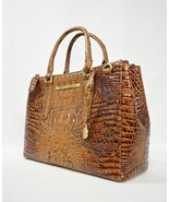 NWT Brahmin Small Lincoln Leather Satchel/Shoulder Bag Toasted Almond Me... - $289.00