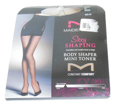 Maidenform Body Shaper Pantyhose Sz XL Nude 20 Denier Silky Sheer Leg Co... - $7.50
